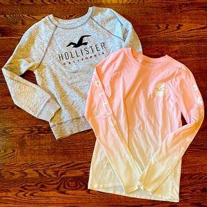 Hollister sweatshirt tshirt 2pc lot size S